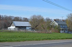 Slippery Rock Township, Butler County, Pennsylvania - Farm on Pennsylvania Route 108