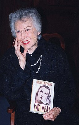 Wray holding her autobiography Fay Wray.jpg