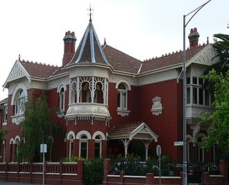 Queen Anne style architecture - Queen Anne styled mansion located in South Yarra, Victoria.