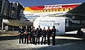 First Biofuel Flight in Spain crew with EC-KNM - Airbus A320-211 (6211827254).jpg