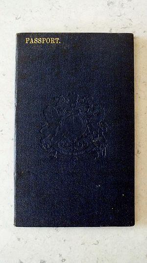 New Zealand passport - Image: First New Zealand Photo ID Passport 1915 1922