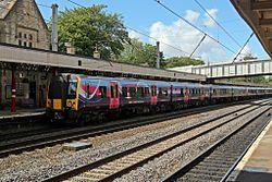 First TransPennine Express Class 350, 350409, Lancaster railway station (geograph 4499791).jpg