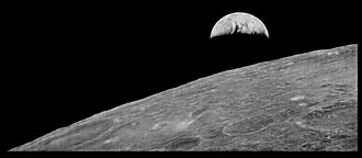 Earthrise - The 1966 photograph taken by Lunar Orbiter 1, reprocessed by the LOIRP, for comparison