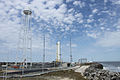 First stage of an Antares rocket on launch pad LA 0.jpg