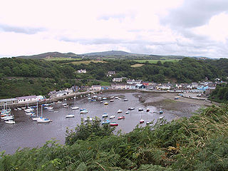 Fishguard Town in Pembrokeshire, Wales