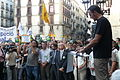 Flickr - Convergència Democràtica de Catalunya - L'alcalde de Barcelona, Xavier Trias, Oriol Pujol i Jordi Turull a la plaça Sant Jaume de Barcelona en defensa de la immersió.jpg