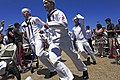 Flickr - Official U.S. Navy Imagery - Sailors assigned to USS Mississippi run to man the ship and bring it to life during the commissioning ceremony for the Navy's ninth Virginia-class attack submarine..jpg