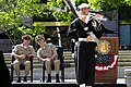 Flickr - Official U.S. Navy Imagery - The CNO and MCPON watch a riffle drill team at the Year of the Chief event at the U.S. Navy Memorial..jpg