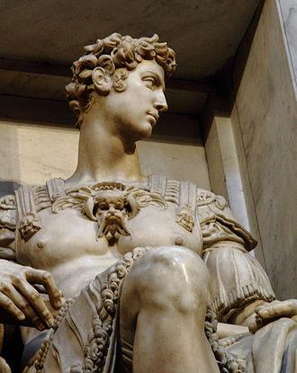 Giuliano de' Medici, Duke of Nemours - Giuliano's Statue in the Medici-Chapel, created by Michelangelo