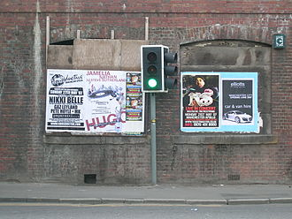 Flyposting - Flyposted posters in Manchester, England, 2007