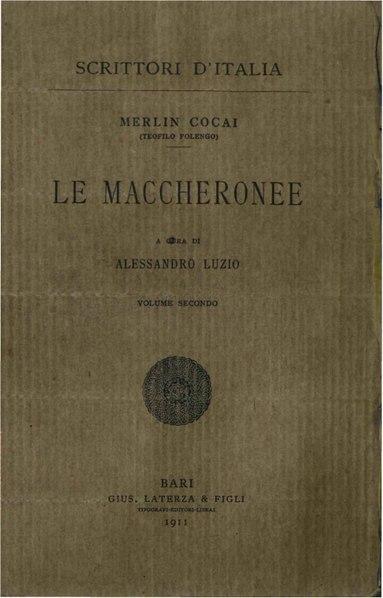 File:Folengo - Maccheronee, vol 2, 1911 - BEIC 1820192.pdf