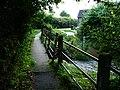 Footbridge, River Redlake, Bucknell - geograph.org.uk - 1526914.jpg