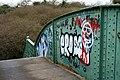 Footbridge Graffiti - geograph.org.uk - 1724838.jpg