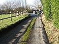 Footpath junction with Southlands Lane West Chiltington - geograph.org.uk - 1671476.jpg