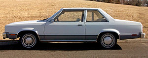 Ford Fairmont - Ford Fairmont 2-door sedan, profile view