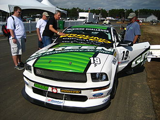 Grand-Am Road Racing - A Ford Mustang FR500S which competes in the Mustang Challenge