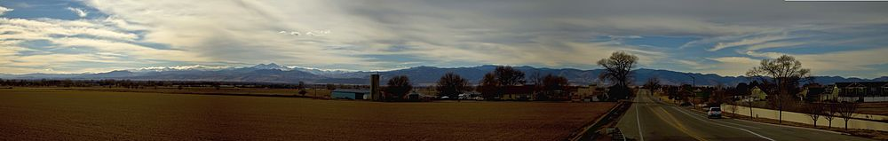 Panorama of Poudre Valley from I-25, facing west