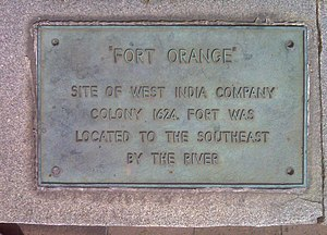 Fort Orange (New Netherland) - Image: Fort Orange Historical Marker