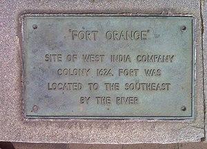 Fort Orange (New Netherland) - Image: Fort Orange Historical Marker