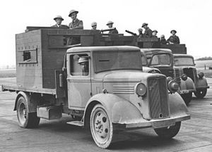 Armadillo armoured fighting vehicle - Four Armadillo mark I with RAF crews