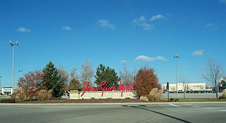 Fox River Mall - South entrance sign