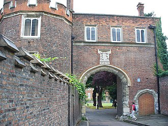 Richmond Green - Richmond Palace Gate House, which is Grade I listed
