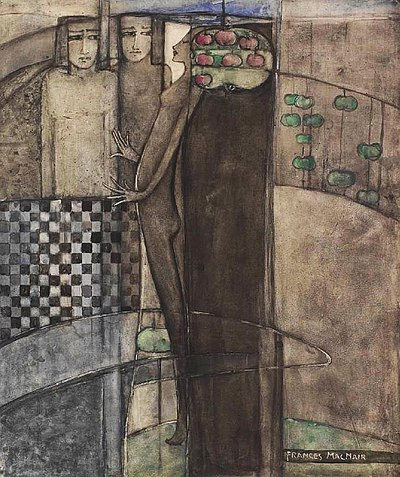 """Frances MacDonald. """"Prudence and Desire"""""""