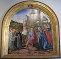 Francesco di giorgio e bottega, natività con santi e angeli.JPG