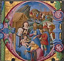 Franco dei Russi (Italian, active about 1453 - 1482) - Initial E- Adoration of the Magi - Google Art Project.jpg