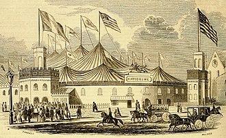 Fifth Avenue Hotel - Franconi's Hippodrome, 1853