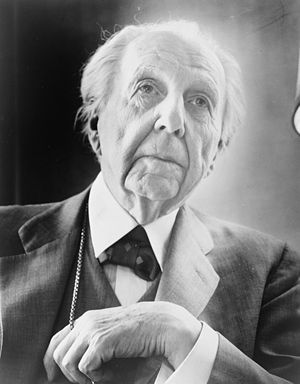 Frank Lloyd Wright, head-and-shoulders portrai...