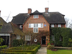 Frank Pick - Pick's home at 15 Wildwood Road, Golders Green