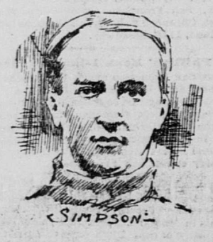 Frank Simpson (American football) - Sketch of Simpson in The San Francisco Call, 1896