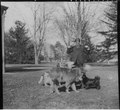 Franklin D. Roosevelt with four dogs in Hyde Park - NARA - 196936.tif