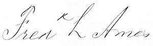 Frederick Lothrop Ames - Image: Frederick Lothrop Ames 1835 1893 signature