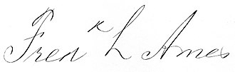 Frederick Lothrop Ames - Image: Frederick Lothrop Ames 1835 1893 signature