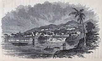 Sierra Leone - The colony of Freetown in 1856