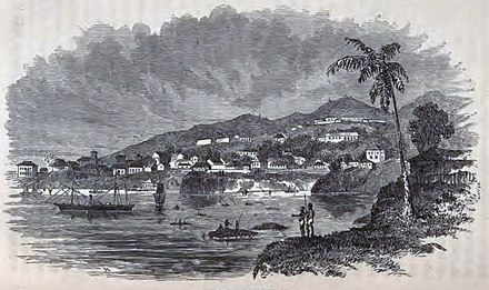 The colony of Freetown in 1856 Freetown, Sierra Leone ca 1856.jpg