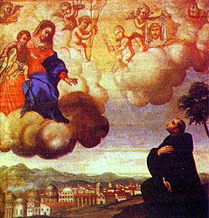 Ricardo do Pilar - Apparition of Our Lady to St. Bernard by Ricardo do Pilar, Monastery of St. Benedict, Rio de Janeiro, 1680