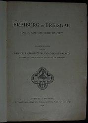de:Freiburg im Breisgau. Die Stadt und ihre Bauten
