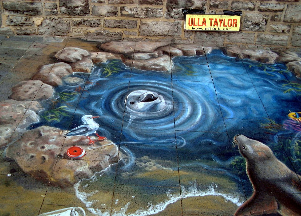 File fremantle street arts wikimedia commons for 3d street painting mural art