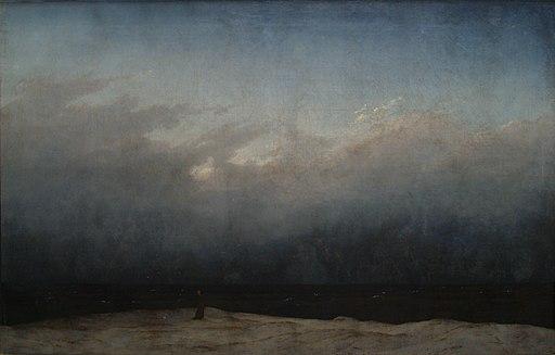 Friedrich monje a la orilla del mar 02 Kopie