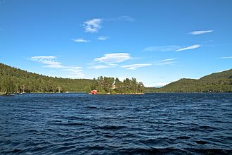 Meldal - View of the lake Frilsjøen