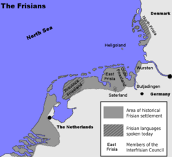 Location of Frisia