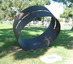 "Columbia Park, Torrance, California - ""Fujimihara"", a sculpture by artist Roger Berry in southwestern Columbia Park"