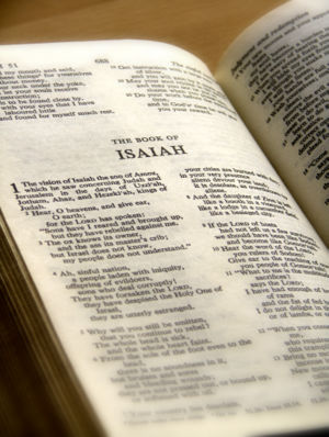 Photo of the Book of Isaiah - book of prophecy in the Bible