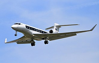 Gulfstream G650 - Gulfstream Aerospace G650 with landing gear down