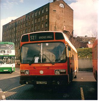 GM Buses - Leyland National at Stockport bus station in October 1986