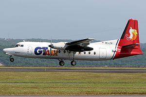 Mimika Air - A GT Air Fokker F-27-500 Friendship.