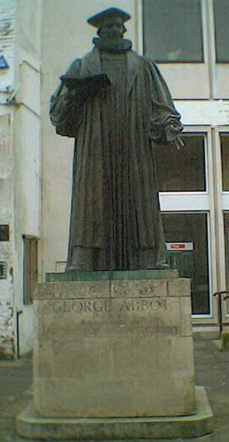 George Abbot (bishop) - Abbot statue at Guildford